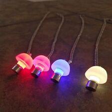 LED Light up Mushroom Pendant Necklace – Glow Mushroom Necklace