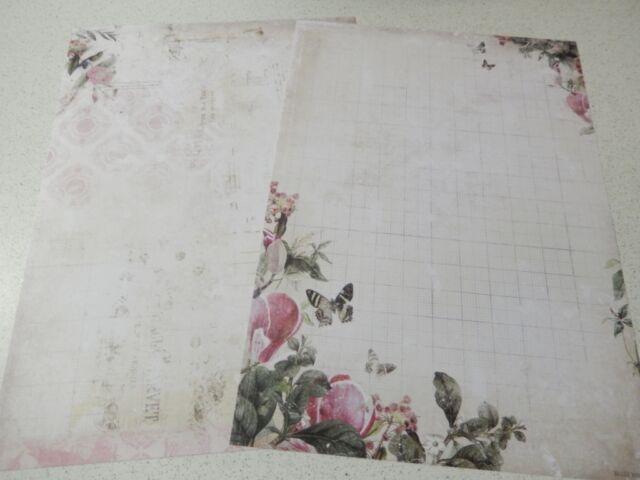 """Studiolight: doppelseitiges Hintergrundpapier """"My Botanic Garden"""" DIN A4 172"""