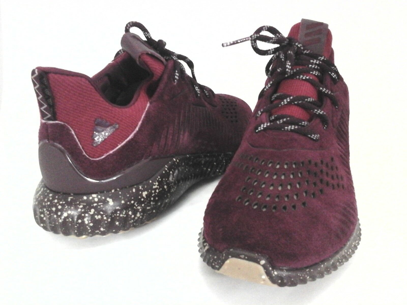 ADIDAS Alphabounce Shoes Sneakers Maroon Red Suede CQ1189 Mens US 13  New