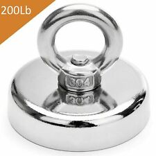 200 Lbs Fishing Magnet Super Strong Neodymium Round Eye Bolt 189 Inch Diameter