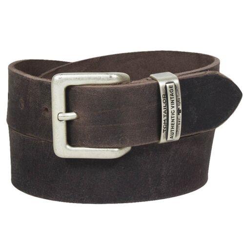 Tom tailor hommes plein cuir ceinture boucle ardillon ELEGANT CLASSIQUE tg1008r15-681