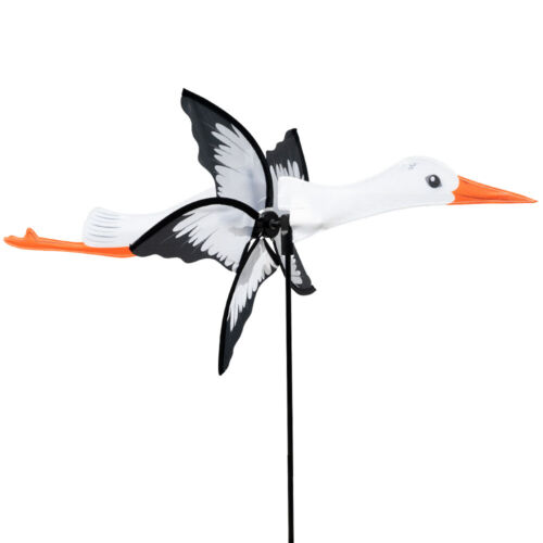 CIM Windspiel Petite 2in1 STORCH Windrad Windmühle Vogel Tier Gartenstecker Deko