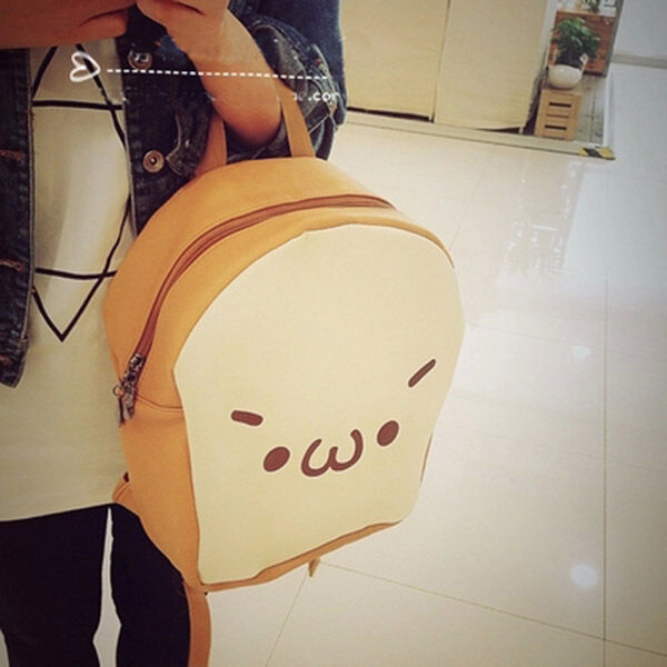 Women Harajuku Fried Chicken Pattern Bag Kawaii Yummy Backpack School Bag