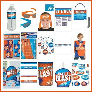 NERF-Birthday-Party-Decorations-Wall-Backdrop-Cutouts-Vest-Party-Favors-Supplies