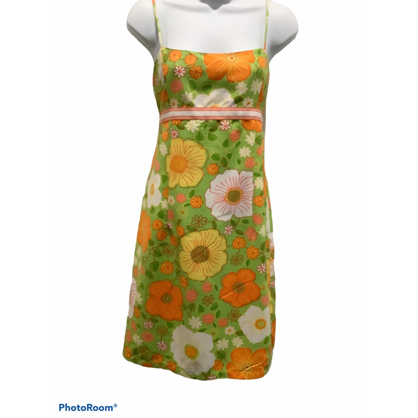 REVERSIBLE FLORAL SLIP DRESS SZ M - image 1