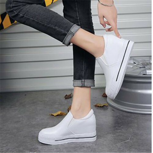 Loafers women/'s thick-bottomed loafers single shoes increased white shoes