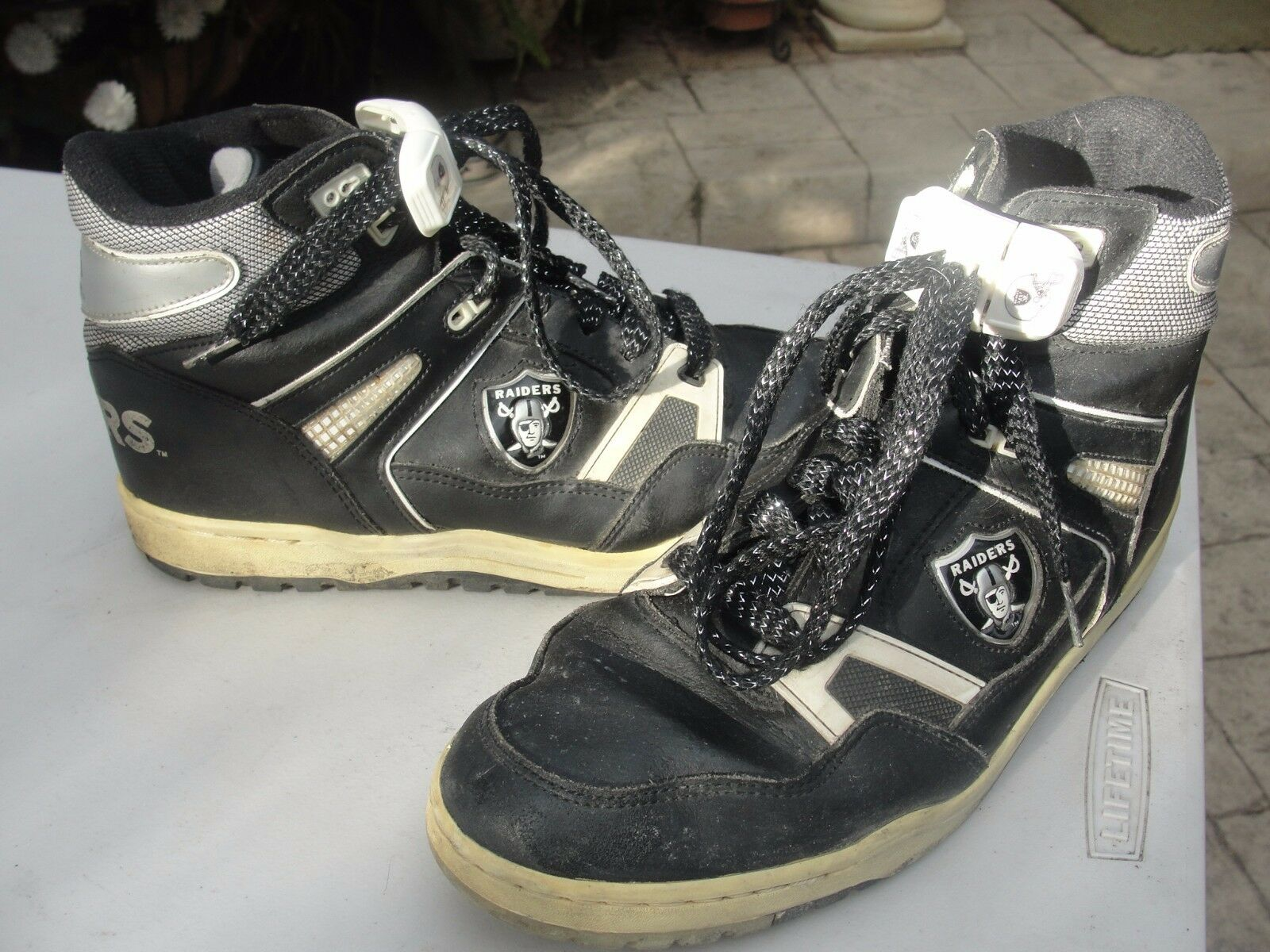 RAIDER zapatos 12 vintage football oakland la EASTSPORT zapatoslace holder brookside