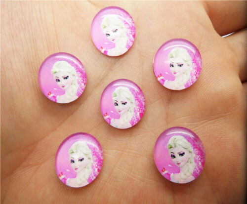 NEW DIY 14mm Photo Image Cartoon Round Glass Cabochon Dome Flat Back Cover