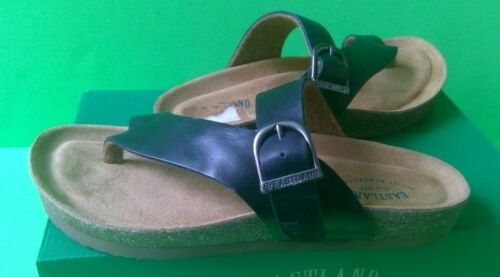 Womens Size 9 Sandals Flip Flops T Strap Slides Leather Mules EASTLAND Comfort