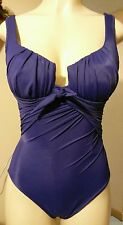 NEW! FAMOUS CATALOG Purple Slimming Stretch One-Piece Swimsuit 6