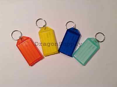 New 12pc Click-It Key ID Labels Tags with Key Ring - ASST COLORS * US SHIPPER *