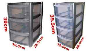 SILVER-TOWER-UNIT-STORAGE-ORGANIZER-3-4-DRAWER-OFFICE-SCHOOL-GARAGE-DRAWS-NEW