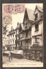 CPA CARTE POSTALE ANGERS VIELLES MAISONS RUE DE OISELLERIE 1912