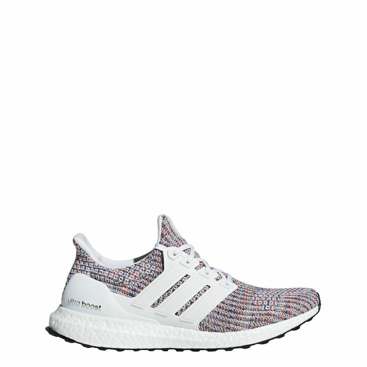 Adidas Men's Ultra Boost - NEW IN BOX -FREE SHIPPING - White Red bluee - CM8111 +