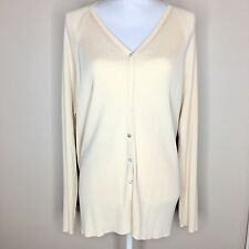 Saks Fifth Avenue Salon Z Pale Yellow Cardigan Sweater. Size 3X