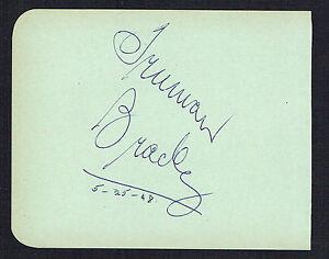 Truman Bradley (d. 1974) signed autograph 4x5 Page Host: Science Fiction Theatre