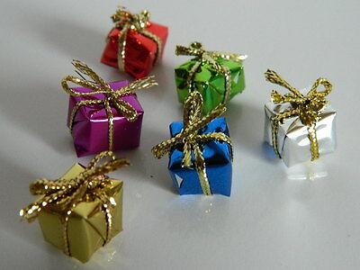 (x.15) 1/12th Scala Casa Delle Bambole Set Di Sei Mini Le Particelle Di Natale-mostra Il Titolo Originale