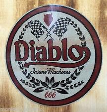 """Biker Sticker Bobber Skull Chopper """"Diablo""""  Devil Oldschool Garage Aufkleber"""
