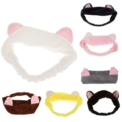 Hairbands hair ornament with cat ear for facial K6R8