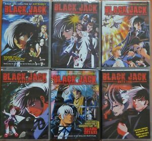 Lot of 6 Black Jack Anime New DVD Set Episodes 1 2 3 4 5 6 7 8 9 Near Complete