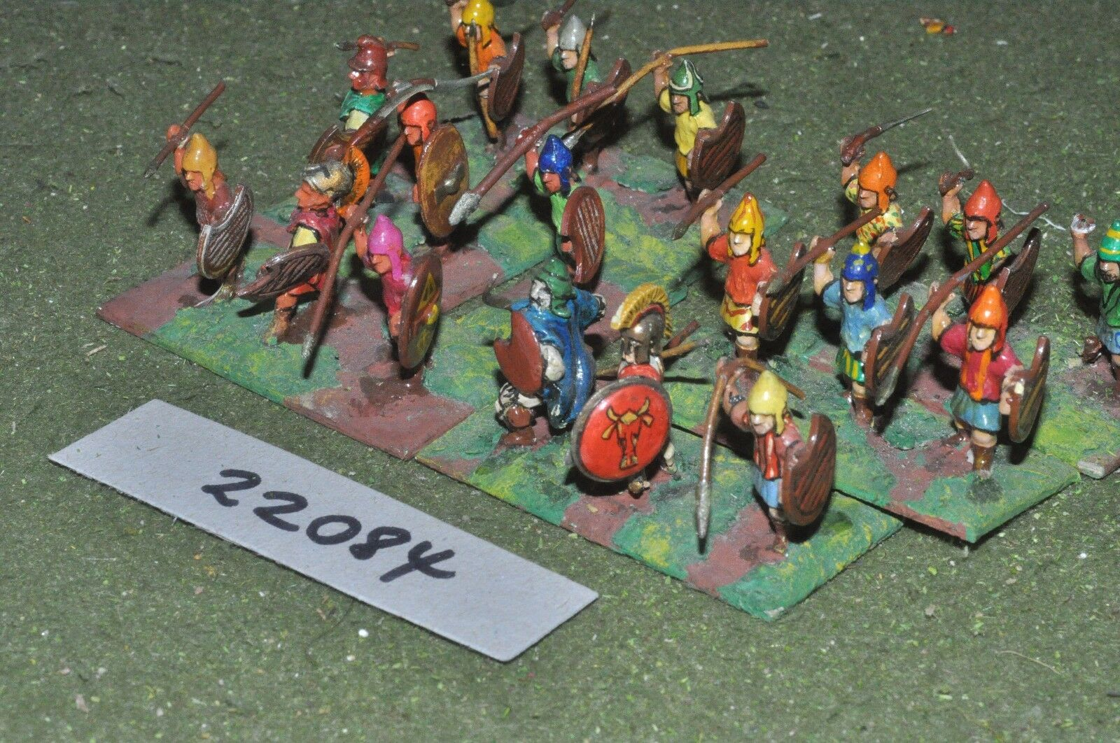 25mm classical   thracian - peltasts 18 figs infantry - inf (22084)