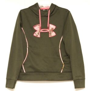 Under-Armour-Storm-Womens-RealTree-Pink-Green-Semi-Fitted-Hoodie-Size-Medium