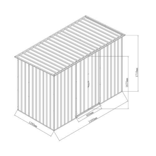 8X8 8X6 Metal 6X4 10X8 Steel Sheds Outdoor Garden Tools Storage Shed 8X4