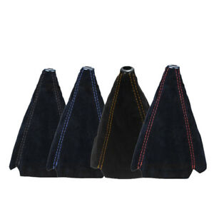 Car-Suede-Leather-Manual-Gear-Stick-Shift-Knob-Cover-Boot-Gaiter-Cover-Black