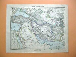 Cartina Asia Occidentale.Mappa Antica Old Map Asia Occidentale Arabia Turchia Stieler E Berghaus 1889 Ebay