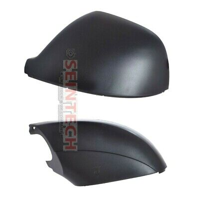 VW T5 T5.1 Transporter Black Door Wing Mirror Top//Lower Cover 2010-15 O//S Right