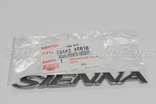 Toyota Sienna Genuine OEM SIENNA Back door Emblem  04 05 06    75442-AE010