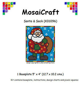 MosaiCraft-Pixel-Craft-Mosaic-Art-Kit-039-Santa-amp-Sack-039-Pixelhobby