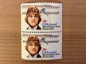 Estados unidos 28c us Airmail Blanche Stuart Scott Pioneer piloto Stamp 3566 1980