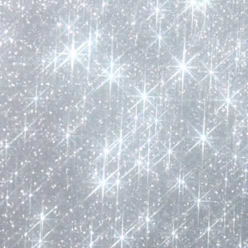 10 étoiles argent 2,5cm Flex thermocollant GLITTER SILVER BLING  hotfix