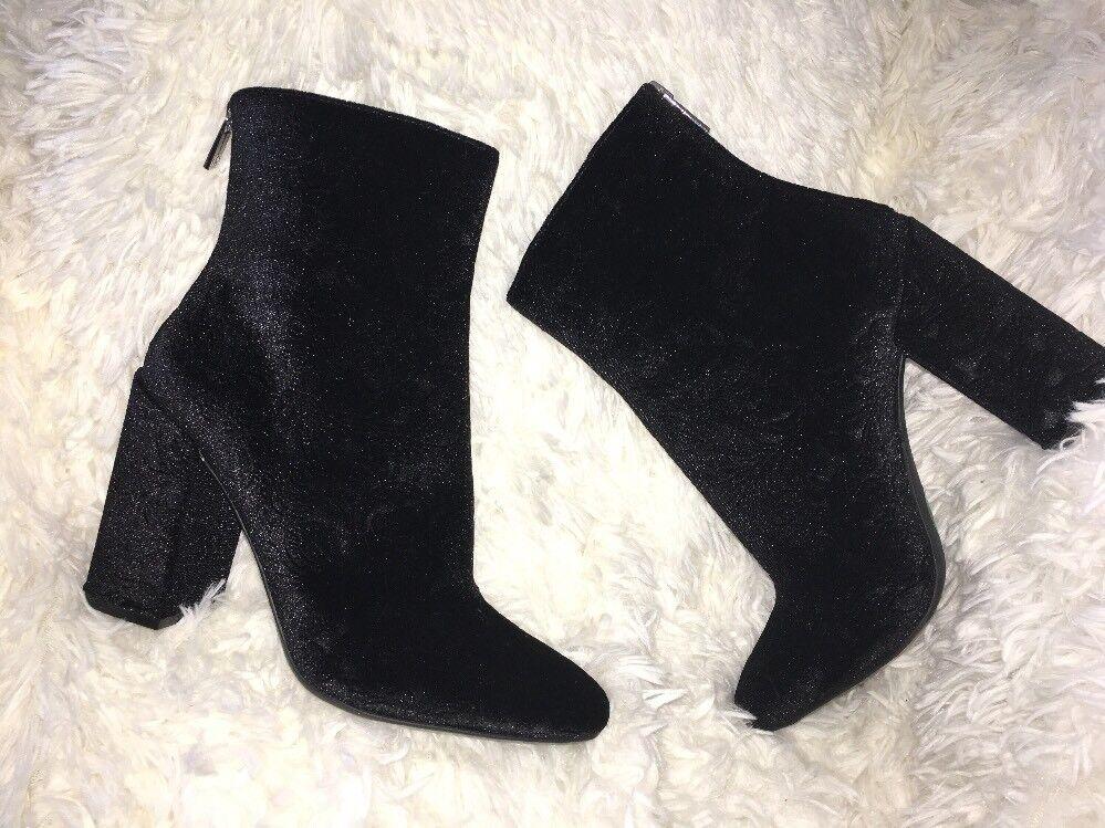Jessica Simpson Aninada Velvet Embossed Ankle Boot SZ 8 NEU