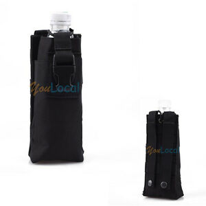 black military molle tactical travel open top water bottle pouch nylon carry bag ebay. Black Bedroom Furniture Sets. Home Design Ideas