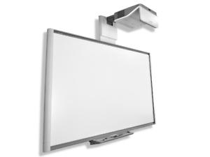 "77"" SB680 INTERACTIVE SMART BOARD AND UF70 SHORT THROW  HDMI PROJECTOR WARRANTY"