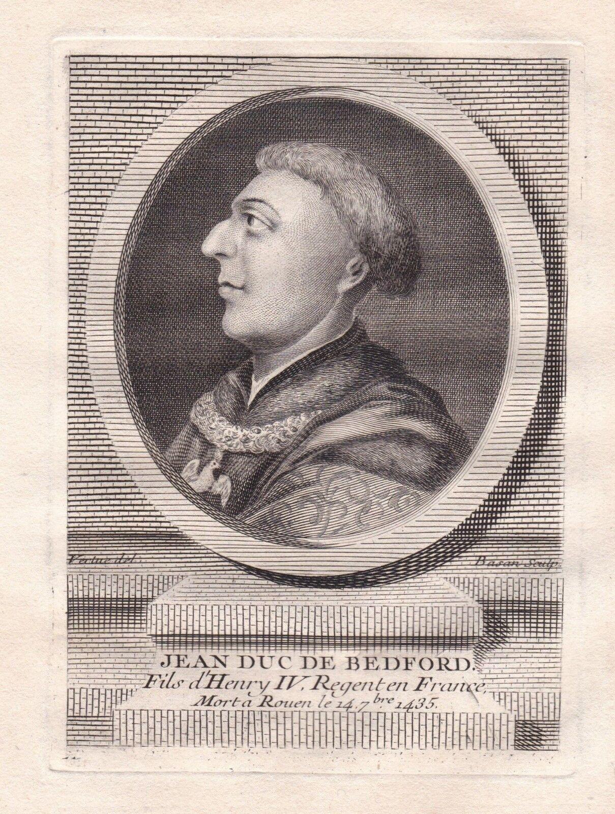 Photo 1 - Portrait XVIIIe Jean de Lancastre Duc de Bedford  Candale John of Lancaster