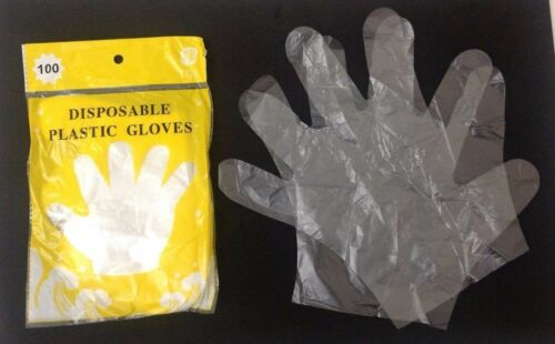 300 Disposable Plastic Gloves-Sanitary Restaurant Home Dishwashing Work Gloves