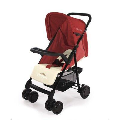 CROWN D/_E/_L/_U/_X/_E Buggy Kinderwagen leicht handlich Qualität Kinderbuggy Karre