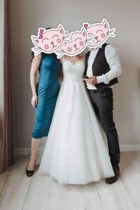 Vestiti Da Sposa Avorio.Vestito Da Sposa Matrimonio Abito Da Sposa Bianco Avorio Tg 38 40