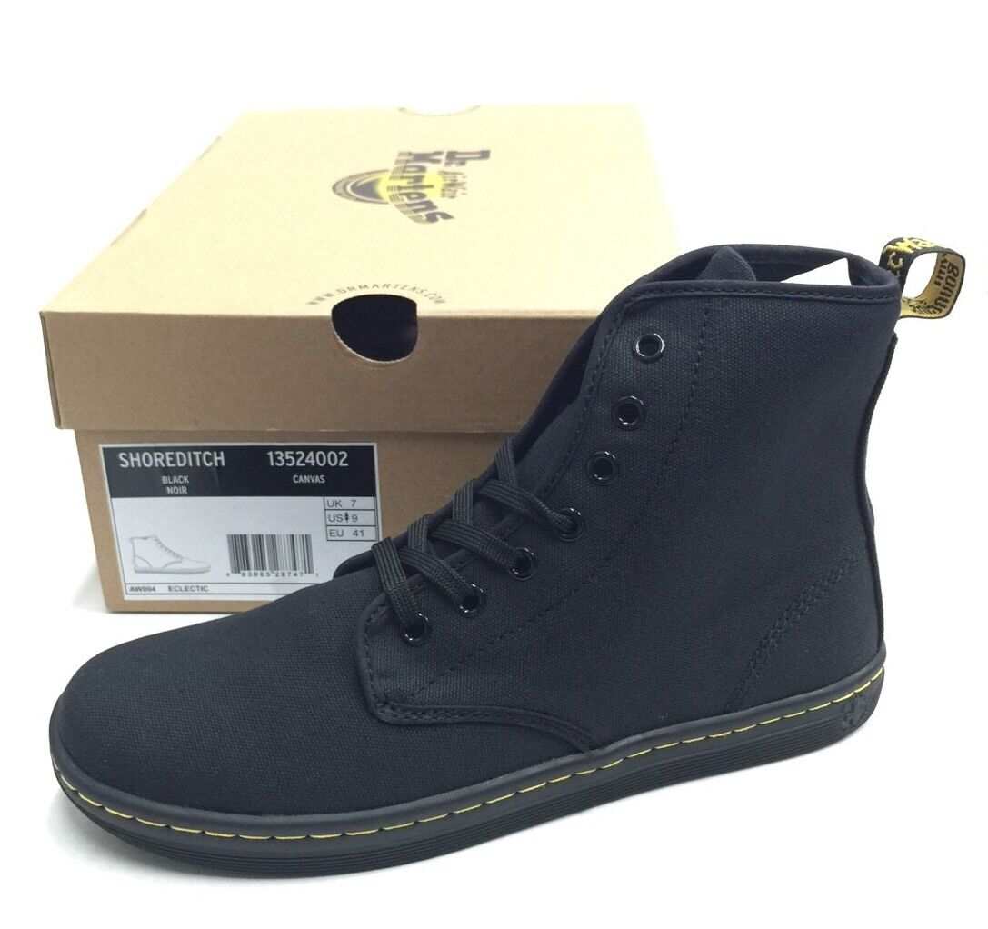 WOMEN'S DR. MARTENS SHOREDITCH CANVAS BLACK 7 EYE