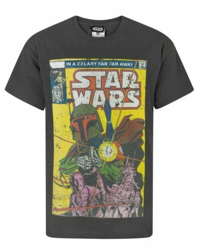 STAR WARS Adult T-Shirt BOBA FETT Comic Style Mens T-Shirt Size Small X-Large