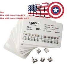 Azdent Orthodontic Brackets Dental Meah Base Mini Mbt Slot 0022 3 4 5 3 Hooks