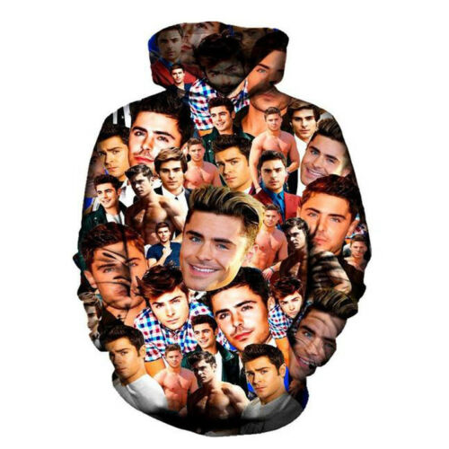New Men/'s Women/'s Zac Efron Collage 3D Print Sweatshirt Hoodies Top pullover