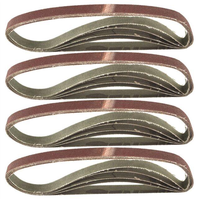 457mm x 13mm Mixed Grit Abrasive Sanding Belts Power File Sander Belt 75 Pack