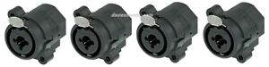 4-Pack-Genuine-NEUTRIK-NCJ6FI-S-Hybrid-XLR-or-TRS-1-4-034-Plug-Panel-Mount-Jacks