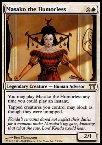 Magic MTG Excellent+ Masako the Humorless ~ Champions of Kamigawa