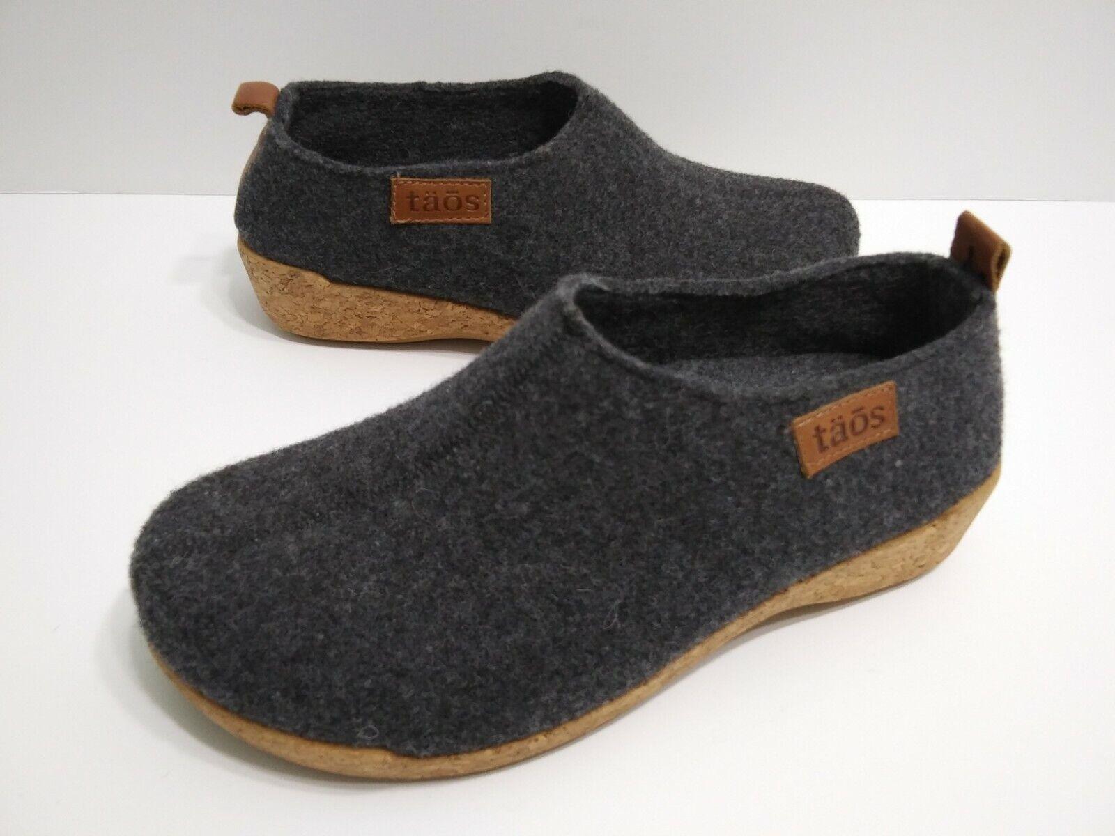 Taos Wonderwool Wool Mule Clogs Slip On Shoes Womens Size 36 Us 5-5.5 Grey Gray