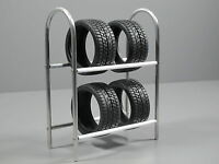 Aluminum Tire Wheel Rim Rack Stay Simulation For Scale 1/10 Tamiya Remote Car